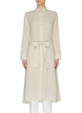 Main View - Click To Enlarge - VINCE - Belted shirt dress