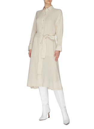 Figure View - Click To Enlarge - VINCE - Belted shirt dress