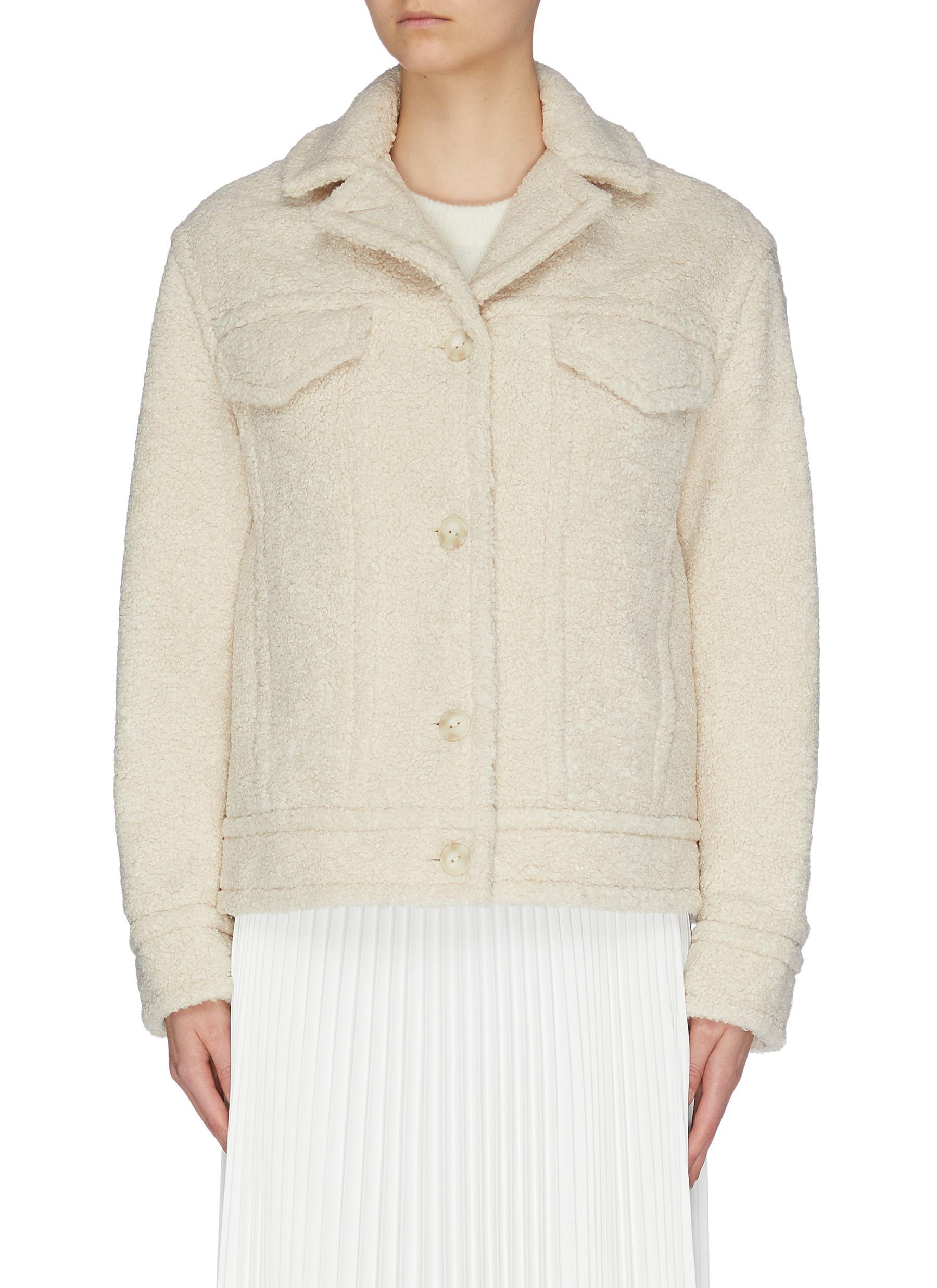 shop Vince Sherpa faux shearling jacket online
