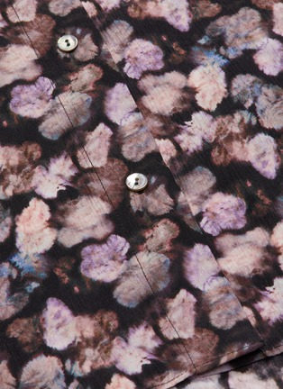 - VINCE - Micro painted floral silk blouse