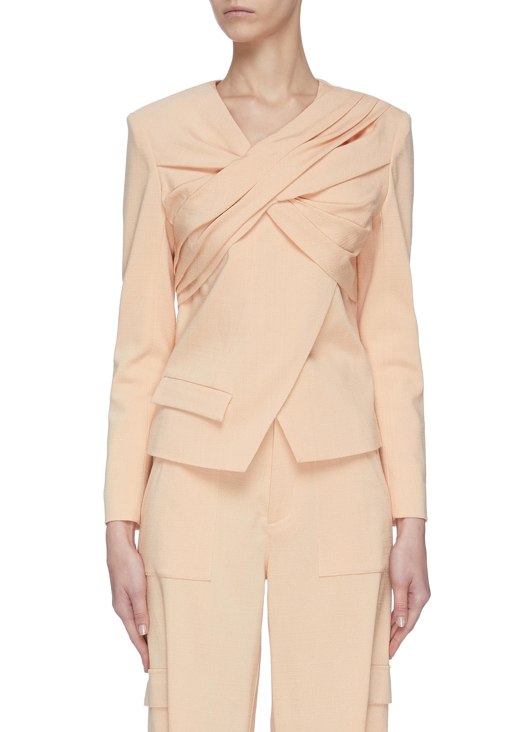Buy Hellessy Jackets Twisted front back zip jacket