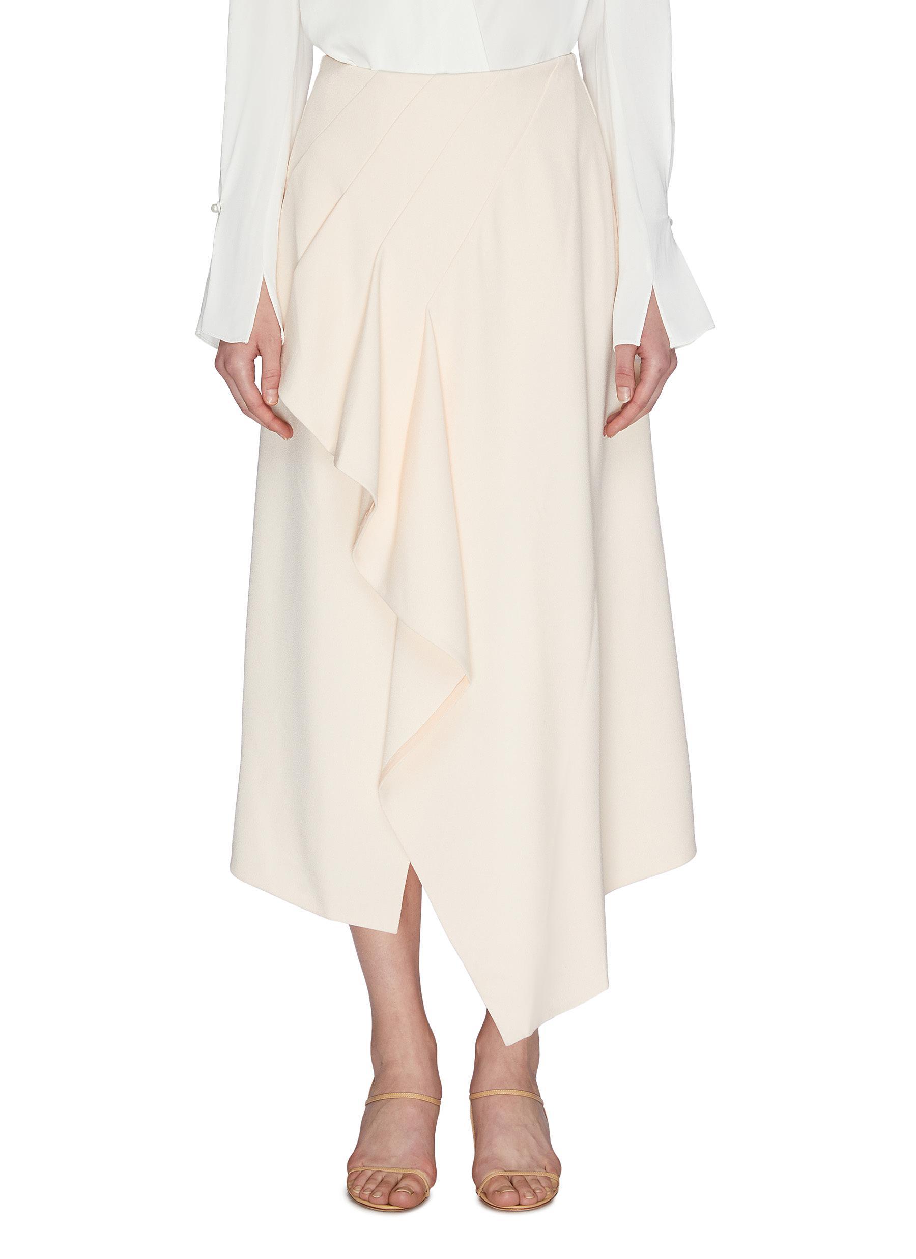 shop Roland Mouret 'Kinver' Ruffle Wrap Crepe Skirt online