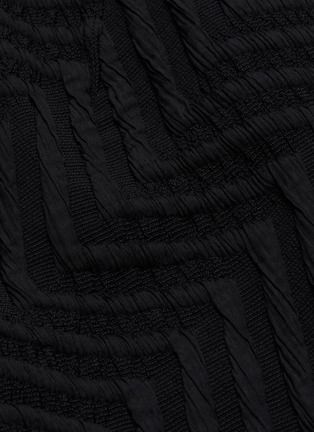 - ROLAND MOURET - 'Palatine' chevron skirt lace panel dress