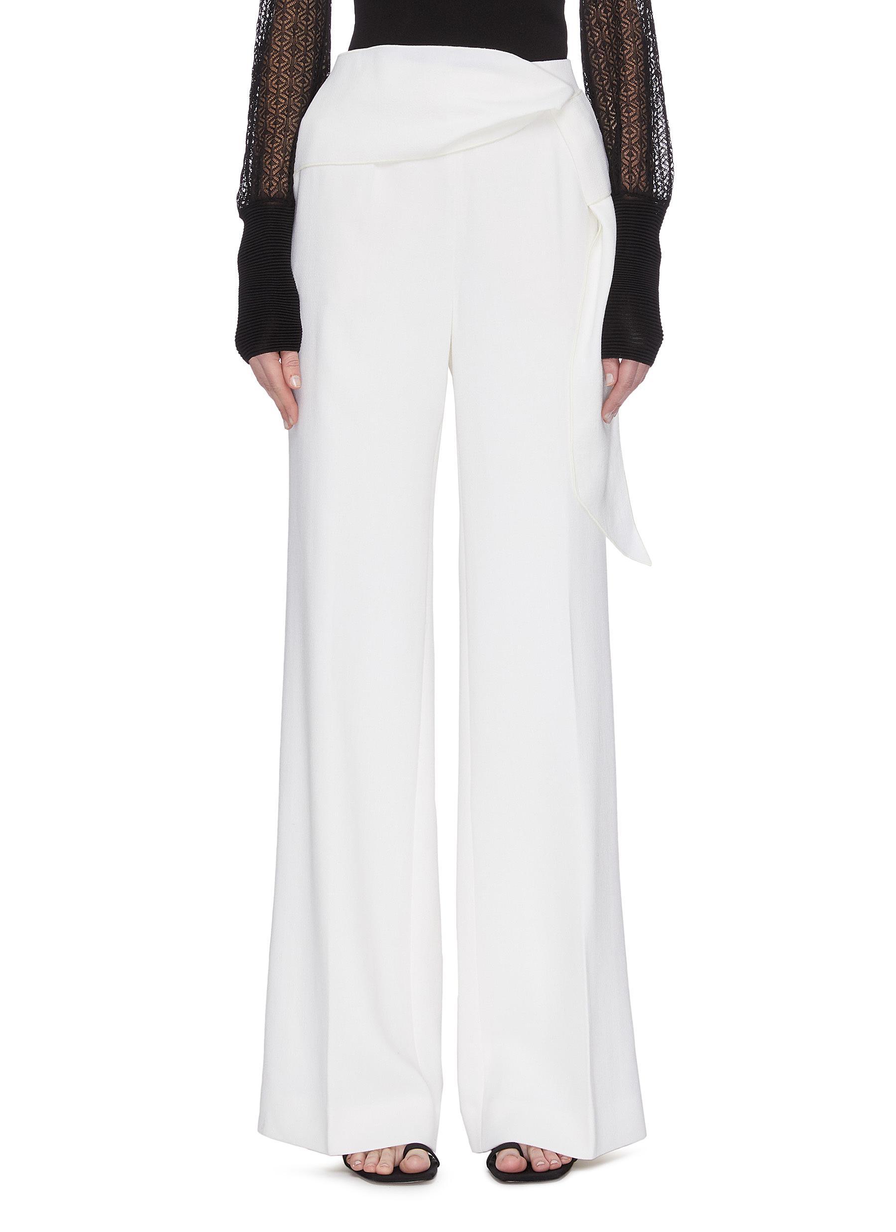 shop Roland Mouret 'Sherbrook' Sash Waist Wool Crepe Pants online