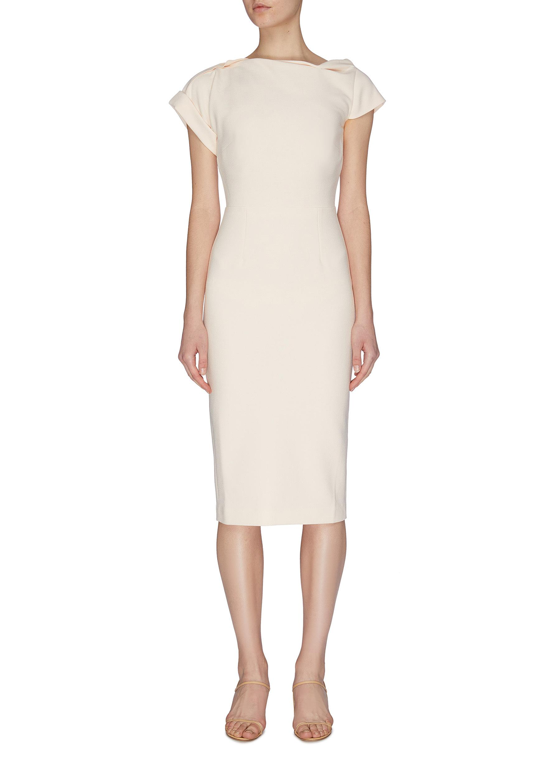 Buy Roland Mouret Dresses 'Brenin Origami' Crepe Dress