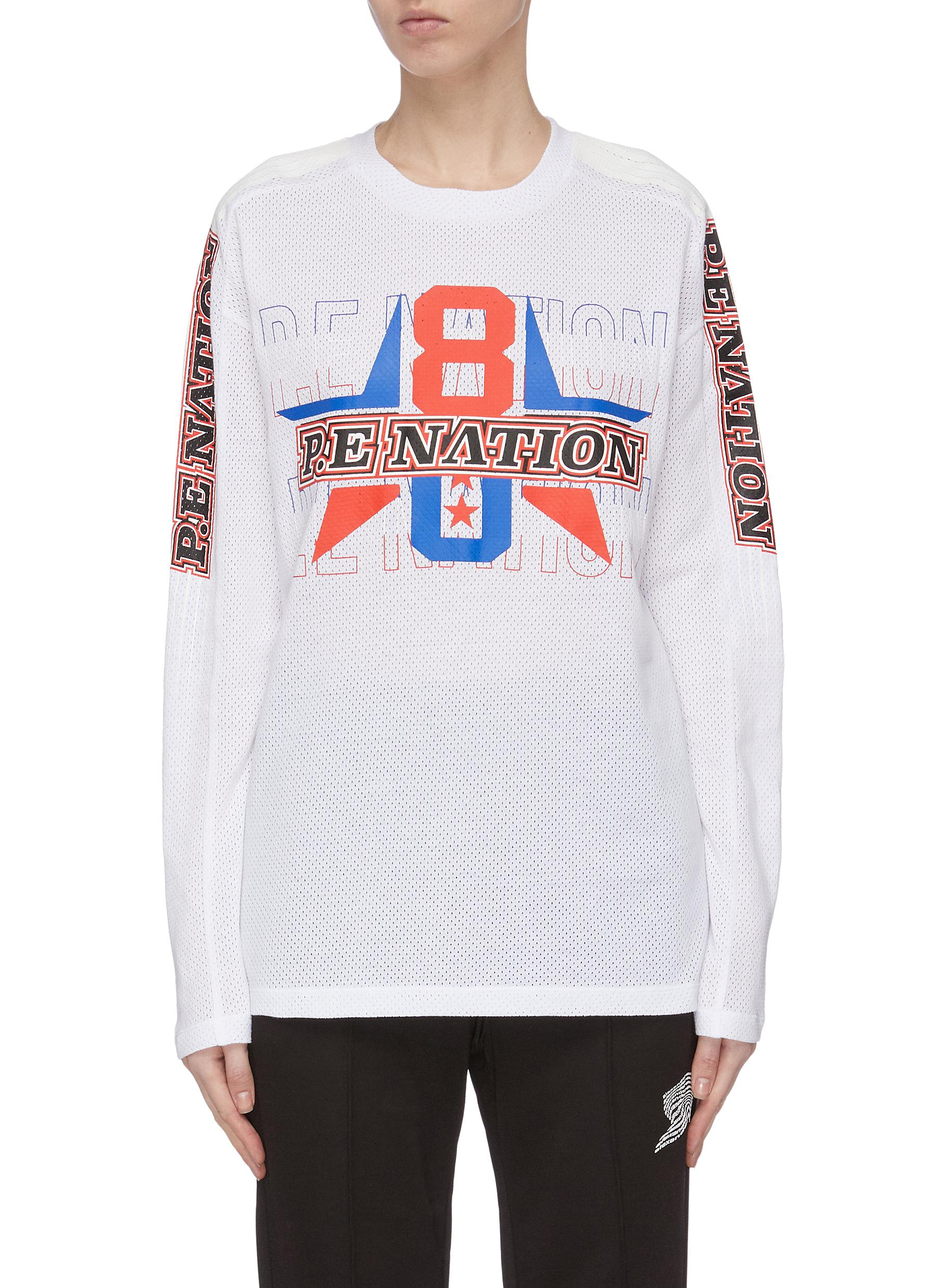 shop P.E Nation 'Motor' perforated squad top online