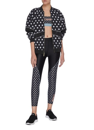 Figure View - Click To Enlarge - P.E NATION - 'Dominion' reversible star print bomber jacket