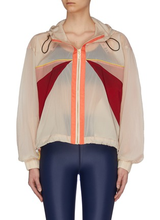 Main View - Click To Enlarge - P.E NATION - 'Extend' contrast panel performance jacket