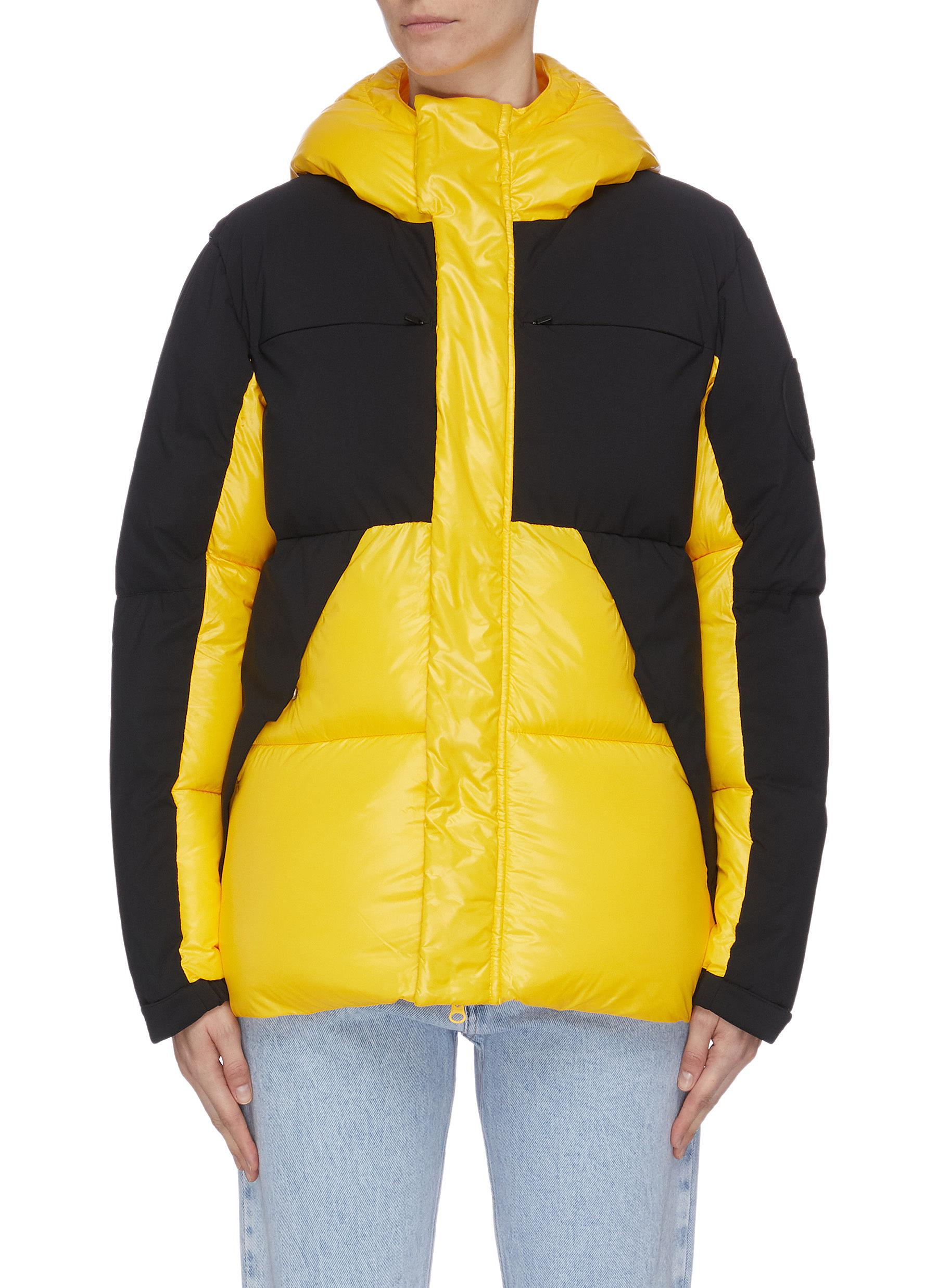 Colourblock panel hooded puffer jacket by Save The Duck