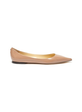 Main View - Click To Enlarge - JIMMY CHOO - 'Love' Leather Skimmer Flats