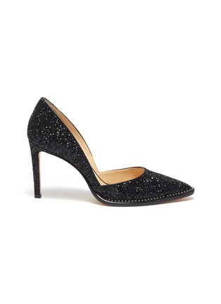 Main View - Click To Enlarge - JIMMY CHOO - 'Babette' crystal trim glitter pumps