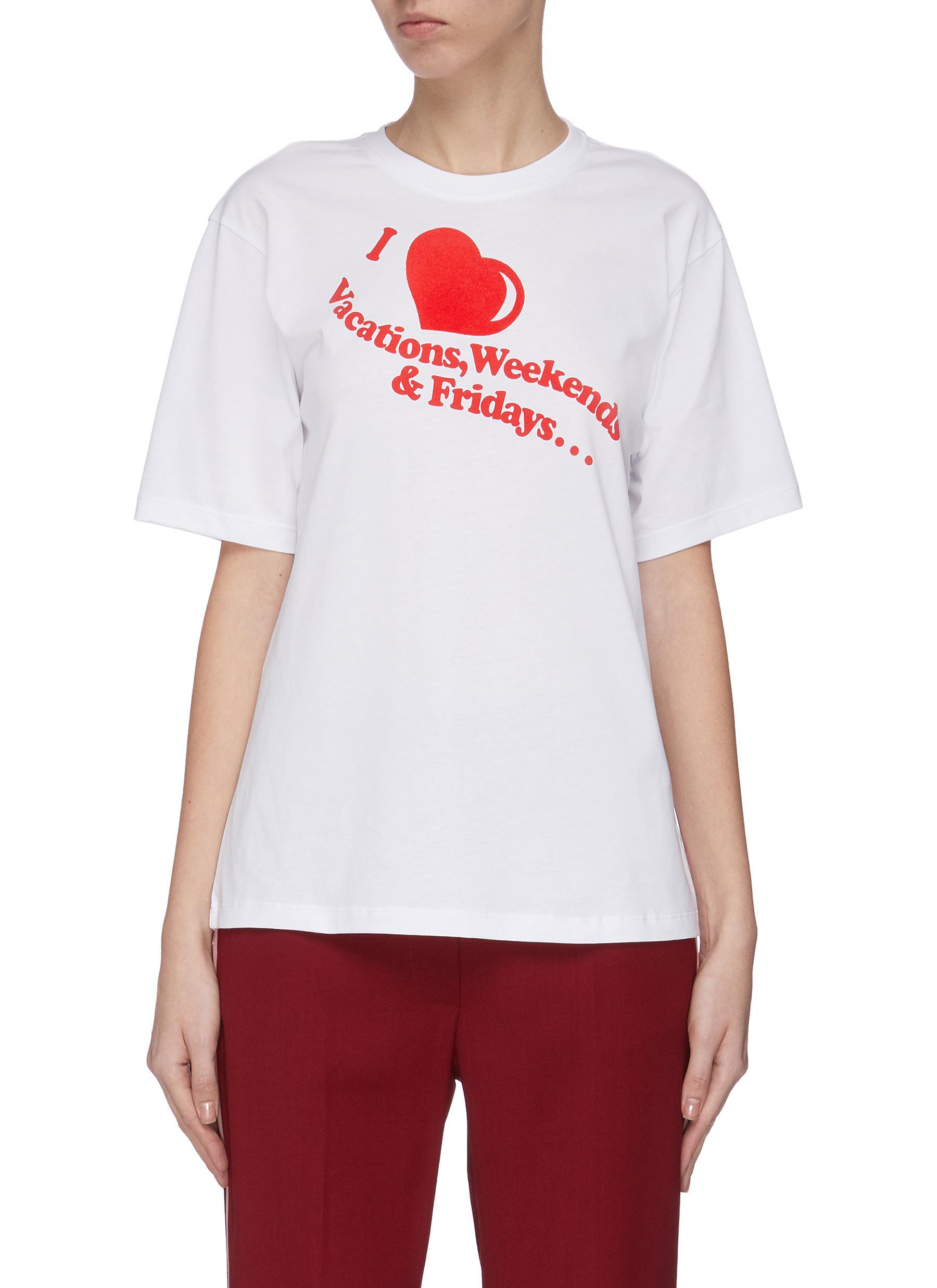 shop Victoria, Victoria Beckham Slogan print T-shirt online