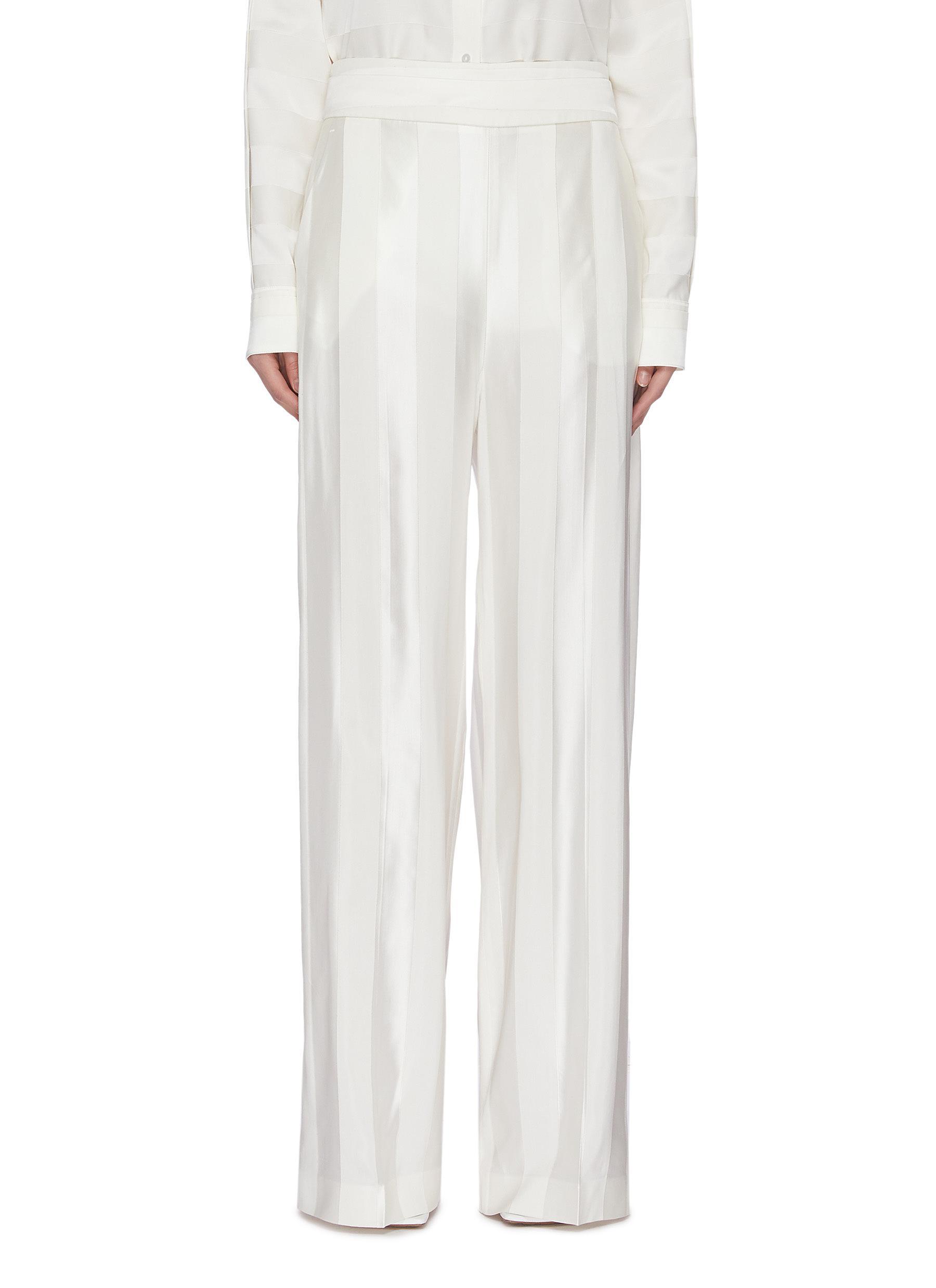 shop Victoria, Victoria Beckham Wide leg stripe pants online
