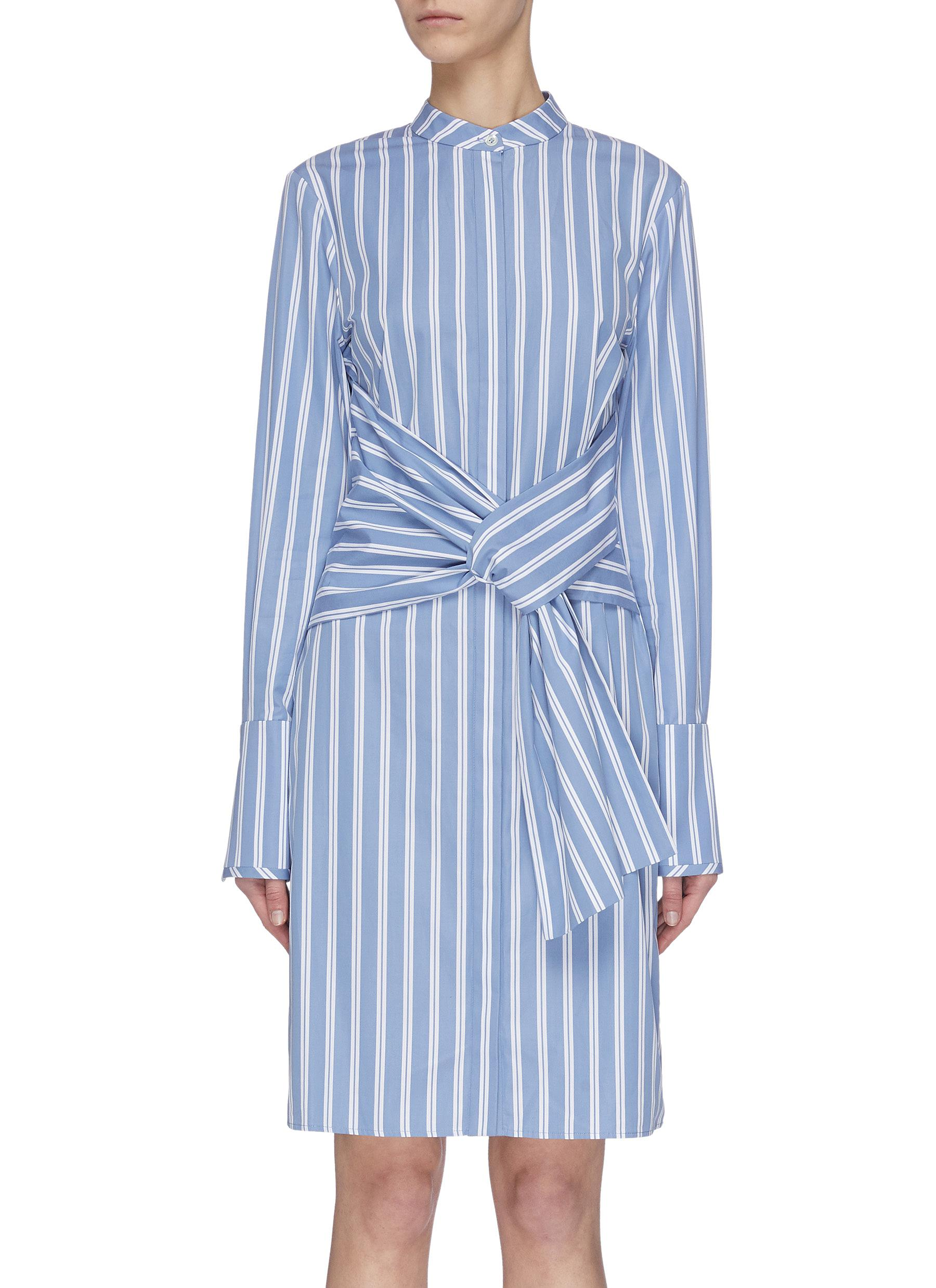 Buy Victoria, Victoria Beckham Dresses Double stripe tie waist shirt dress