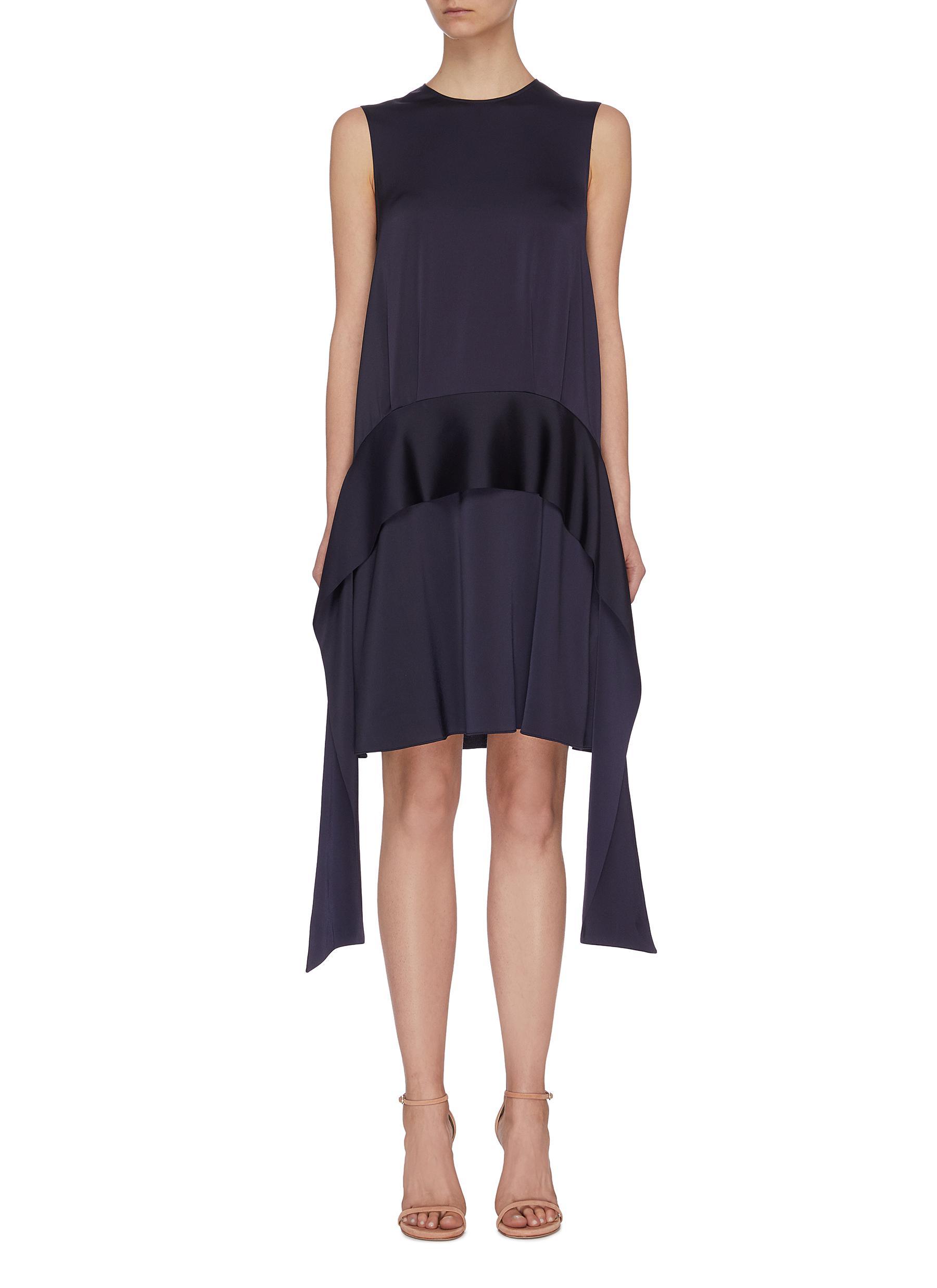 shop Victoria, Victoria Beckham Scarf panel sleeveless mini dress online