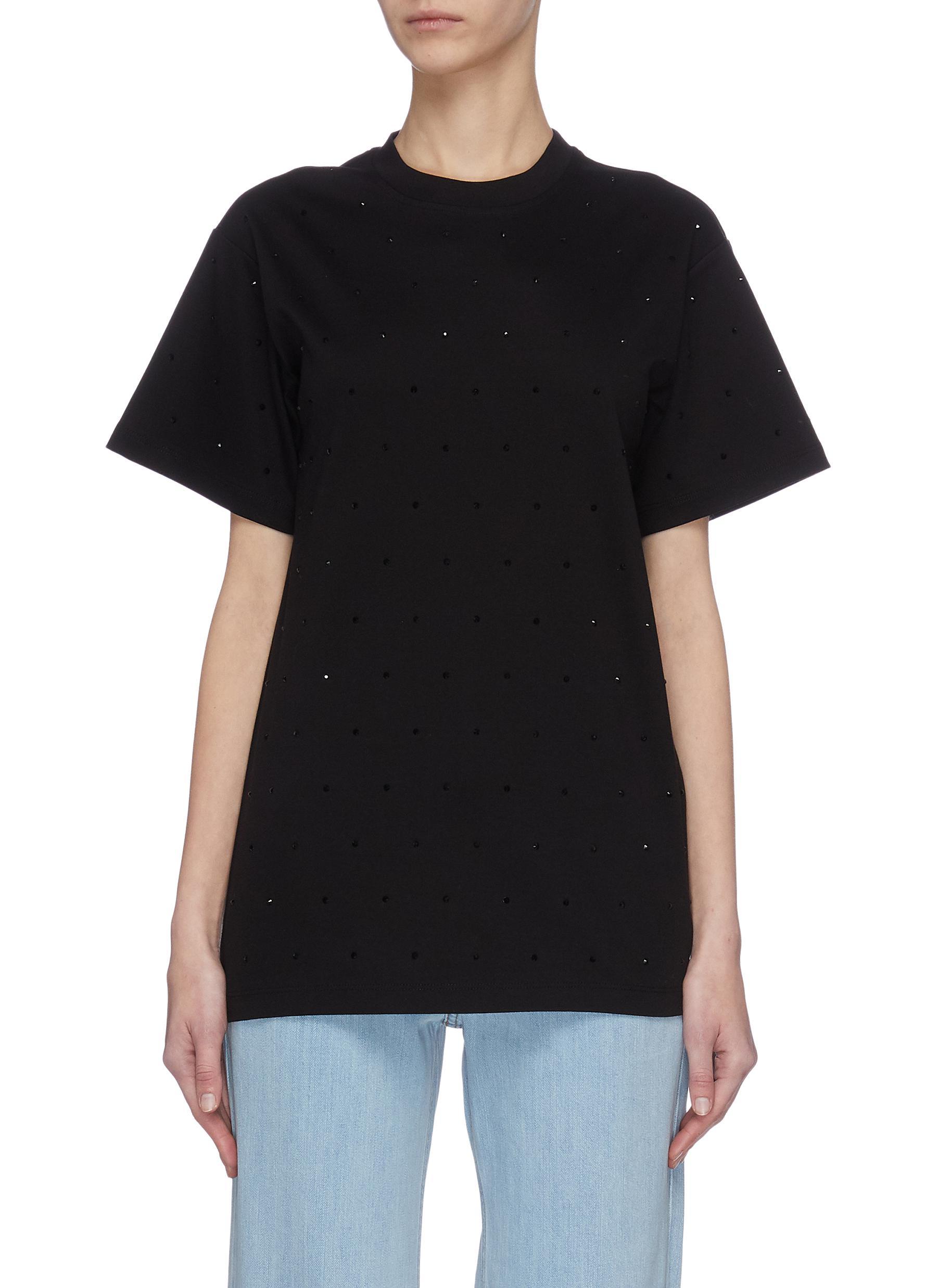 Buy Victoria, Victoria Beckham Tops Embellished T-shirt