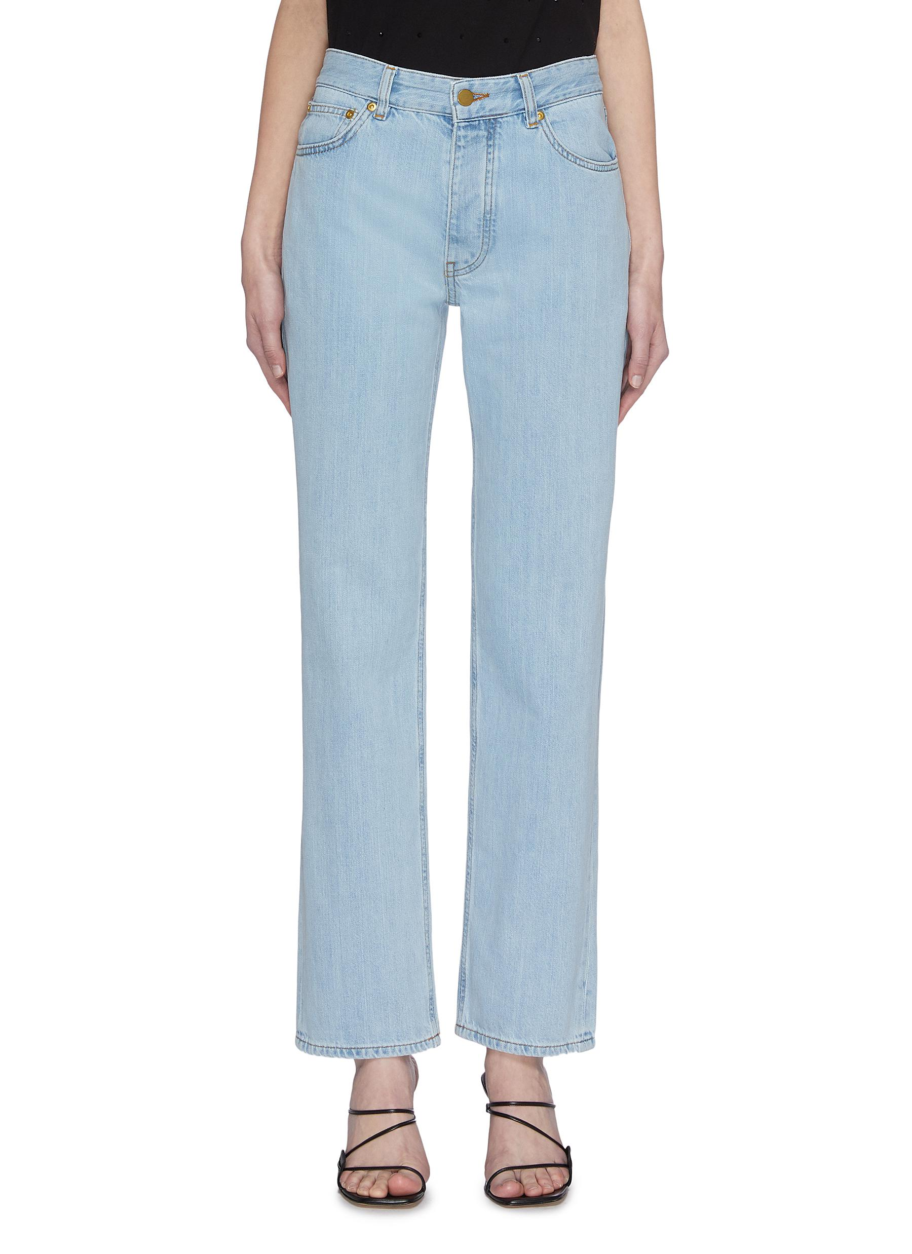 Buy Victoria, Victoria Beckham Jeans 'Arizona' logo embroidered boyfriend jeans