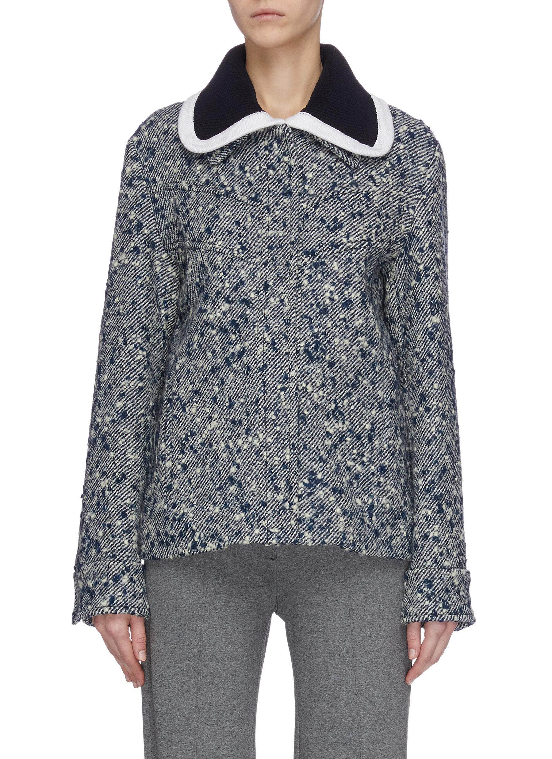Buy Victoria, Victoria Beckham Jackets Boucle twill knit jacket