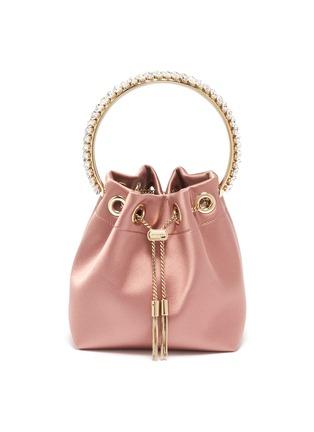 Main View - Click To Enlarge - JIMMY CHOO - 'Bonbon' crystal embellished handle satin bag