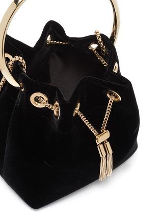 Detail View - Click To Enlarge - JIMMY CHOO - 'Bonbon' metal handle velvet bag