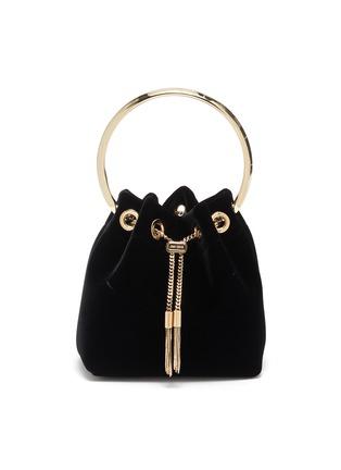 Main View - Click To Enlarge - JIMMY CHOO - 'Bonbon' metal handle velvet bag