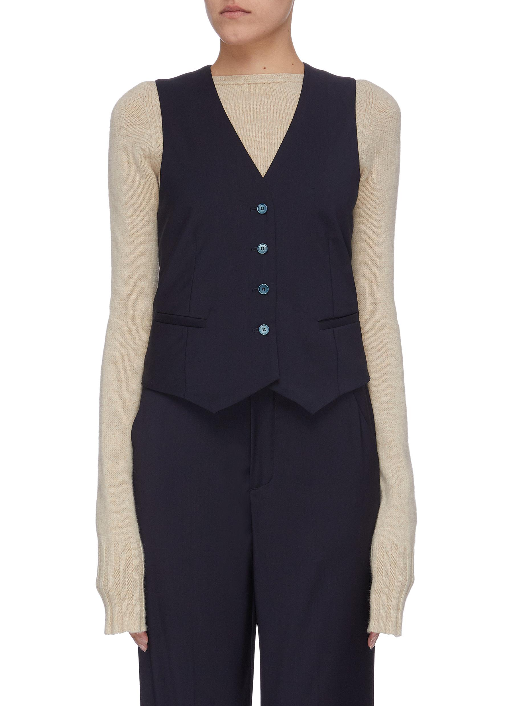 shop Barena 'Agnese' virgin wool waist coat online