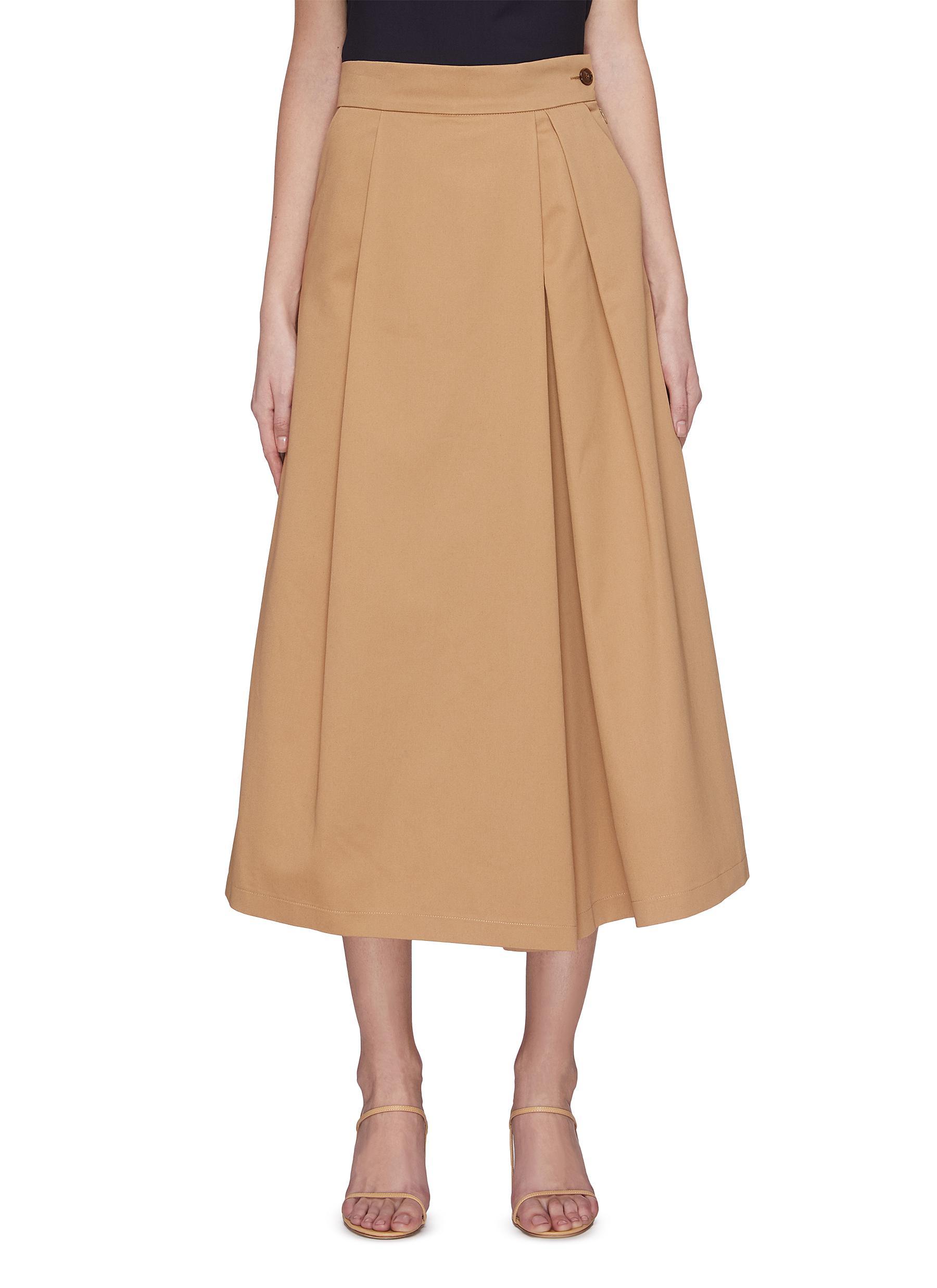 shop Barena 'Samu' box pleated midi skirt online