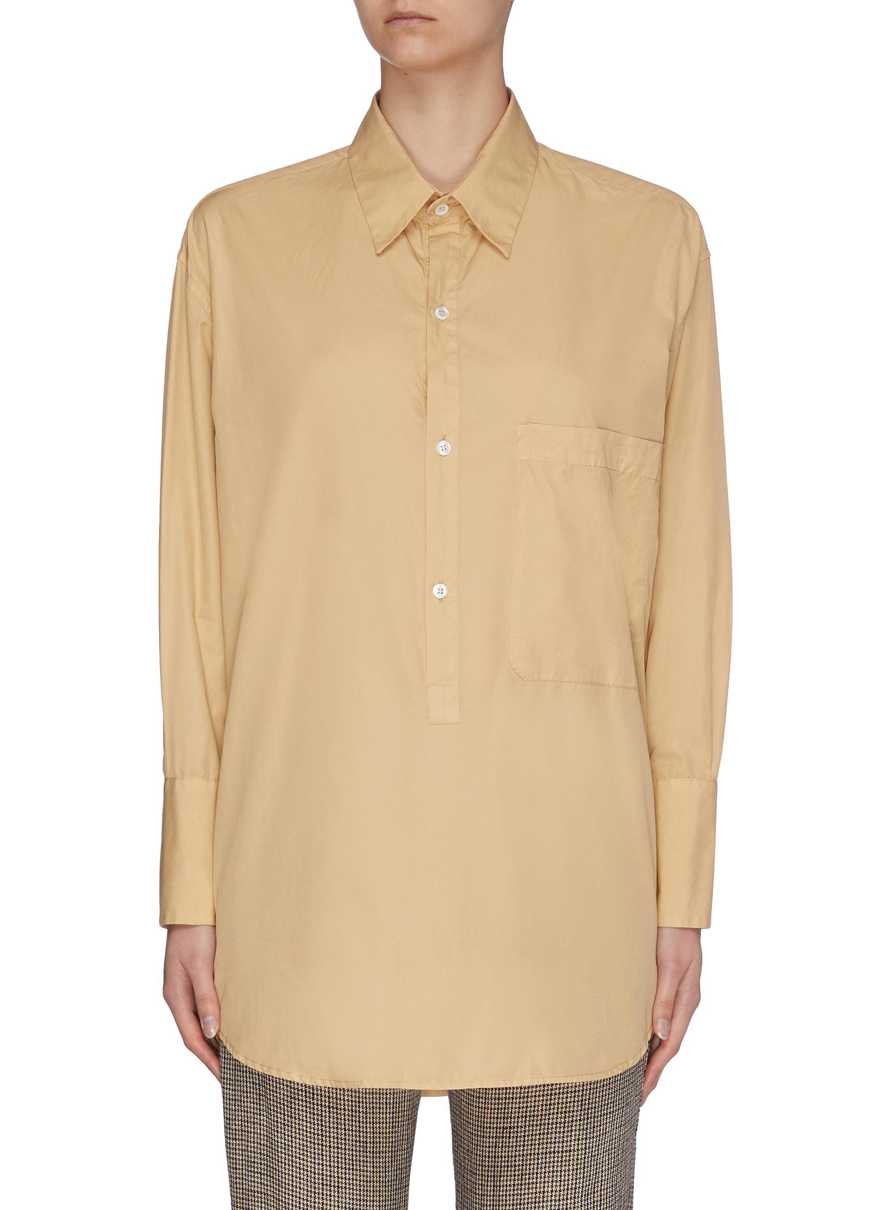 Buy Barena Tops 'Bepi' half placket blouse