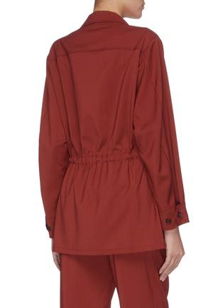 Back View - Click To Enlarge - BARENA - 'Vanna' slanted pocket virgin wool cargo jacket