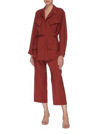 Figure View - Click To Enlarge - BARENA - 'Vanna' slanted pocket virgin wool cargo jacket