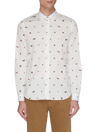Main View - Click To Enlarge - PS PAUL SMITH - Multi-print shirt