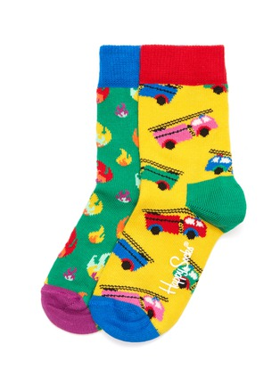 Main View - Click To Enlarge - HAPPY SOCKS - On Fire kids socks 2-pack set