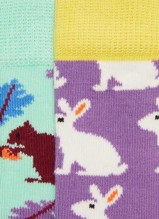 Detail View - Click To Enlarge - HAPPY SOCKS - Bunny kids socks 2-pack set