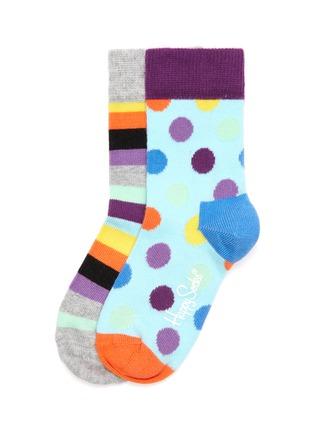 Main View - Click To Enlarge - HAPPY SOCKS - Big Dot kids socks 2-pack set