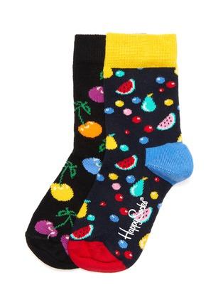 Main View - Click To Enlarge - HAPPY SOCKS - Cherry kids socks 2-pack set