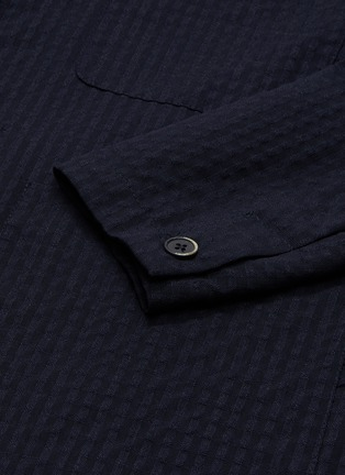 - BARENA - 'Refada Stobia' seersucker blazer