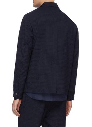 Back View - Click To Enlarge - BARENA - 'Refada Stobia' seersucker blazer