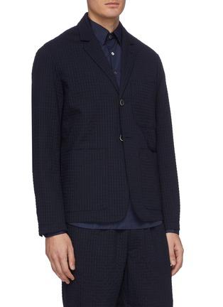 Front View - Click To Enlarge - BARENA - 'Refada Stobia' seersucker blazer