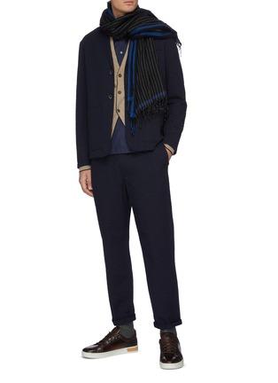 Figure View - Click To Enlarge - BARENA - 'Refada Stobia' seersucker blazer