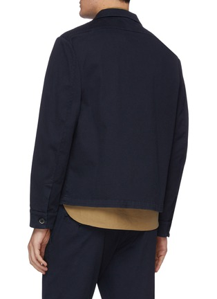 Back View - Click To Enlarge - BARENA - 'Cedro' cotton twill shirt jacket