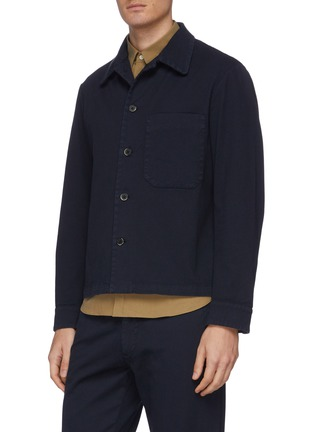 Front View - Click To Enlarge - BARENA - 'Cedro' cotton twill shirt jacket