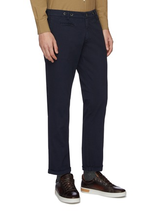 Front View - Click To Enlarge - BARENA - 'Rampin' cotton twill pants