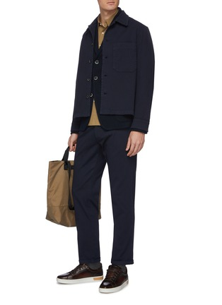 Figure View - Click To Enlarge - BARENA - 'Rampin' cotton twill pants