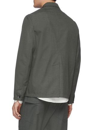 Back View - Click To Enlarge - BARENA - 'Canal Fero' notch lapel blazer