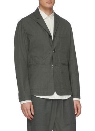 Front View - Click To Enlarge - BARENA - 'Canal Fero' notch lapel blazer