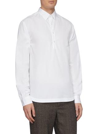 Front View - Click To Enlarge - BARENA - 'Pavan Bagio' half button shirt