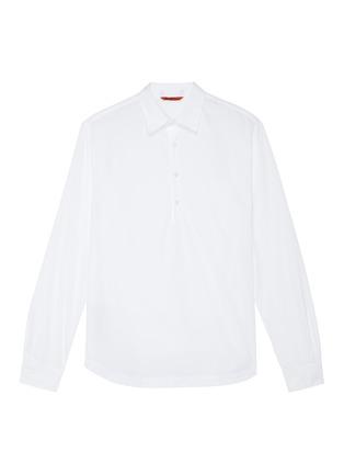 Main View - Click To Enlarge - BARENA - 'Pavan Bagio' half button shirt
