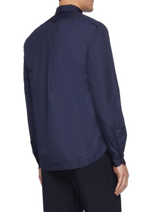Back View - Click To Enlarge - BARENA - 'Pavan Bagio' half button shirt