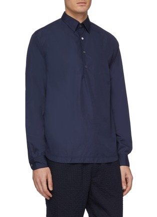 Front View - Click To Enlarge - BARENA - 'Pavan Bagio' half button shirt