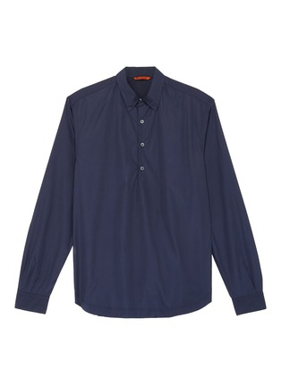 Main View - Click To Enlarge - BARENA - 'Pavan Bagio' half button shirt